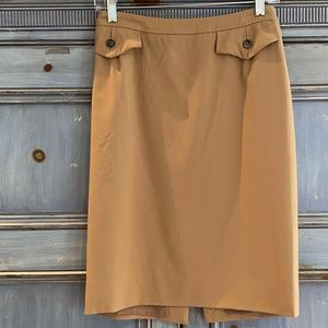 Salvatore Ferragamo camel color skirt  sz M